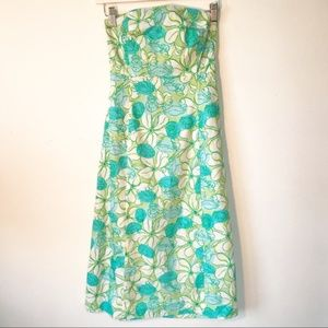 Lilly Pulitzer | Strapless Crab Floral Print